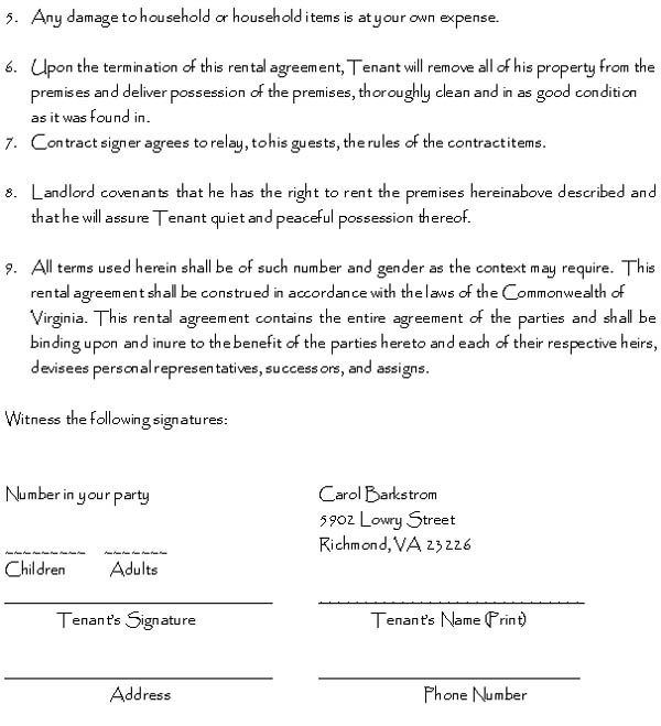 Doc592799 Sample Printable Lease Agreement Printable Sample – Printable Rental Agreement Template